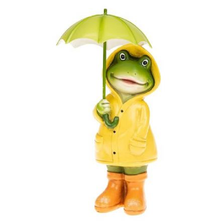 Small Puddle Girl Frog, Standing Figurine